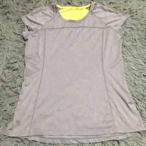 MPG Gray & Yellow Workout Tee
